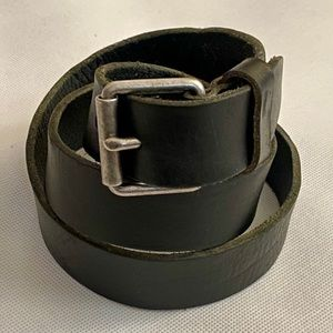 J. Crew Black Leather Belt